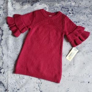 Oshkosh. Baby Girl Forever Berry Sweater Dress 18m